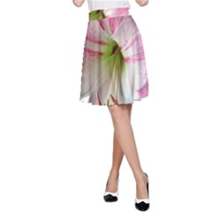 Flower Blossom Bloom Amaryllis A Line Skirt