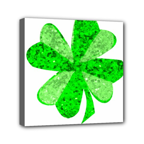 St Patricks Day Shamrock Green Mini Canvas 6  X 6  by Nexatart