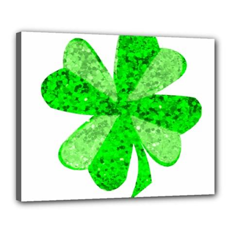 St Patricks Day Shamrock Green Canvas 20  X 16