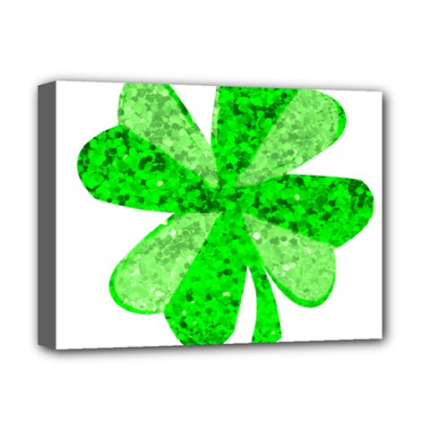 St Patricks Day Shamrock Green Deluxe Canvas 16  X 12