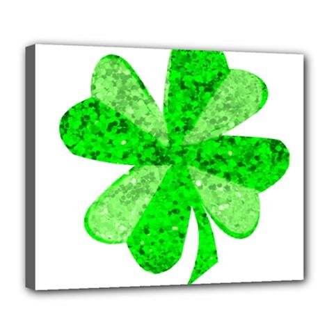 St Patricks Day Shamrock Green Deluxe Canvas 24  X 20   by Nexatart