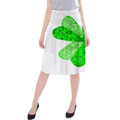 St Patricks Day Shamrock Green Midi Beach Skirt