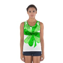 St Patricks Day Shamrock Green Women s Sport Tank Top