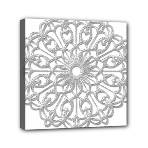 Scrapbook Side Lace Tag Element Mini Canvas 6  X 6  by Nexatart