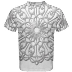 Scrapbook Side Lace Tag Element Men s Cotton Tee