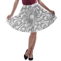 Scrapbook Side Lace Tag Element A Line Skater Skirt