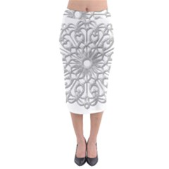 Scrapbook Side Lace Tag Element Midi Pencil Skirt