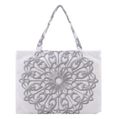 Scrapbook Side Lace Tag Element Medium Tote Bag