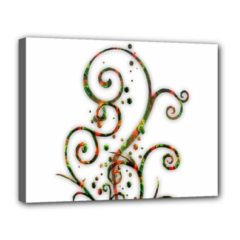 Scroll Magic Fantasy Design Canvas 14  X 11  by Nexatart