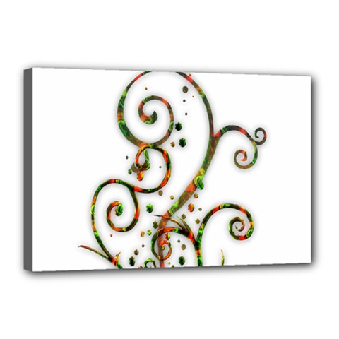 Scroll Magic Fantasy Design Canvas 18  X 12  by Nexatart