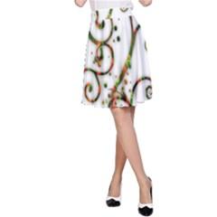 Scroll Magic Fantasy Design A Line Skirt