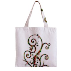 Scroll Magic Fantasy Design Zipper Grocery Tote Bag by Nexatart