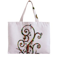 Scroll Magic Fantasy Design Zipper Mini Tote Bag