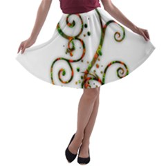 Scroll Magic Fantasy Design A Line Skater Skirt