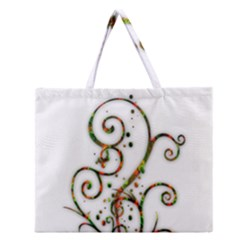 Scroll Magic Fantasy Design Zipper Large Tote Bag by Nexatart