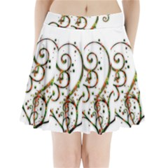Scroll Magic Fantasy Design Pleated Mini Skirt
