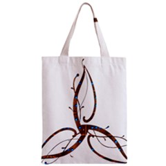 Abstract Shape Stylized Designed Zipper Classic Tote Bag by Nexatart