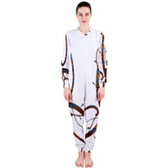 Abstract Shape Stylized Designed Onepiece Jumpsuit (ladies)