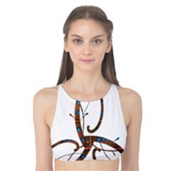 Abstract Shape Stylized Designed Tank Bikini Top by Nexatart