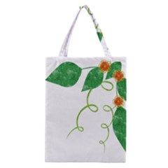Scrapbook Green Nature Grunge Classic Tote Bag