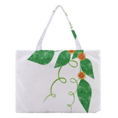 Scrapbook Green Nature Grunge Medium Tote Bag by Nexatart