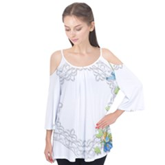 Scrapbook Element Lace Embroidery Flutter Tees