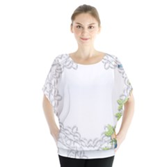 Scrapbook Element Lace Embroidery Blouse