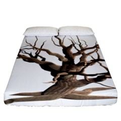 Tree Isolated Dead Plant Weathered Fitted Sheet (california King Size)