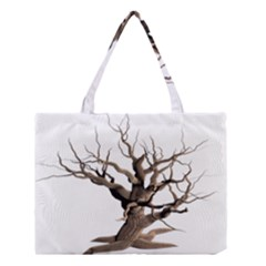 Tree Isolated Dead Plant Weathered Medium Tote Bag