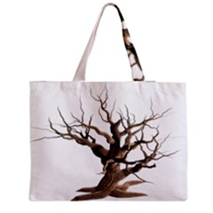 Tree Isolated Dead Plant Weathered Medium Zipper Tote Bag