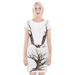Tree Isolated Dead Plant Weathered Braces Suspender Skirt by Nexatart
