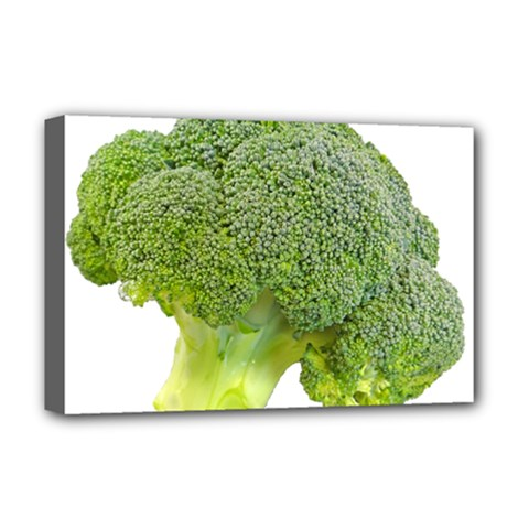 Broccoli Bunch Floret Fresh Food Deluxe Canvas 18  X 12   by Nexatart