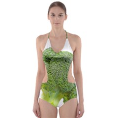 Broccoli Bunch Floret Fresh Food Cut Out One Piece Swimsuit