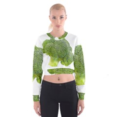 Broccoli Bunch Floret Fresh Food Cropped Sweatshirt