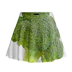 Broccoli Bunch Floret Fresh Food Mini Flare Skirt