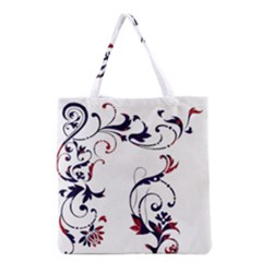 Scroll Border Swirls Abstract Grocery Tote Bag by Nexatart