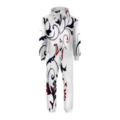 Scroll Border Swirls Abstract Hooded Jumpsuit (kids)