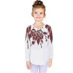 Scrapbook Element Nature Flowers Kids  Long Sleeve Tee