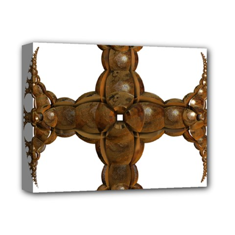 Cross Golden Cross Design 3d Deluxe Canvas 14  X 11  by Nexatart