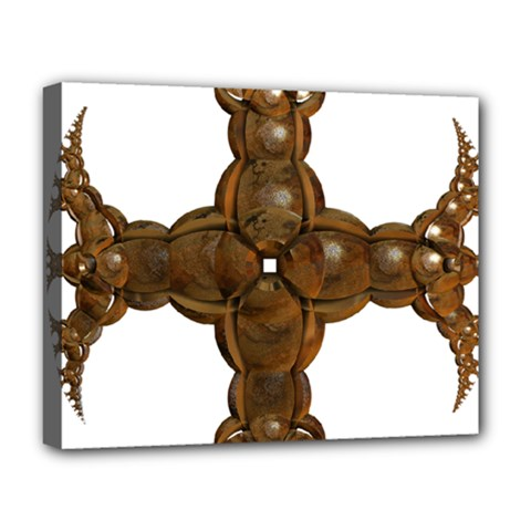 Cross Golden Cross Design 3d Deluxe Canvas 20  X 16   by Nexatart