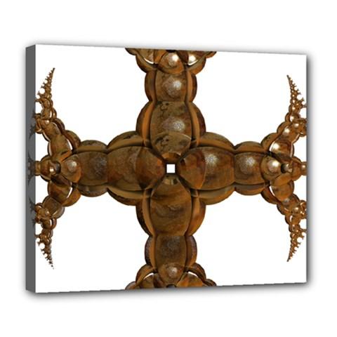 Cross Golden Cross Design 3d Deluxe Canvas 24  X 20   by Nexatart