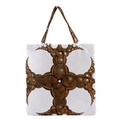 Cross Golden Cross Design 3d Grocery Tote Bag by Nexatart