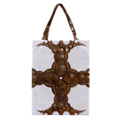 Cross Golden Cross Design 3d Classic Tote Bag