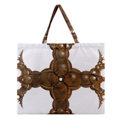 Cross Golden Cross Design 3d Zipper Large Tote Bag