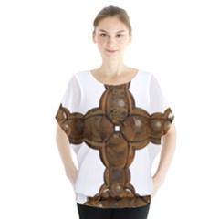 Cross Golden Cross Design 3d Blouse