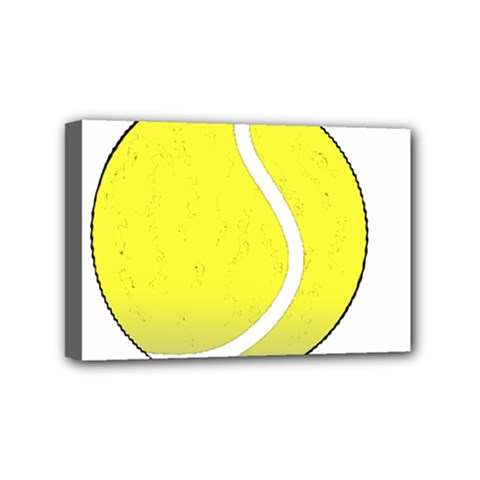 Tennis Ball Ball Sport Fitness Mini Canvas 6  X 4  by Nexatart