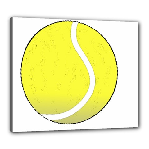 Tennis Ball Ball Sport Fitness Canvas 24  X 20  by Nexatart