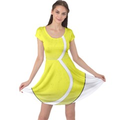 Tennis Ball Ball Sport Fitness Cap Sleeve Dresses