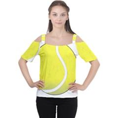 Tennis Ball Ball Sport Fitness Women s Cutout Shoulder Tee