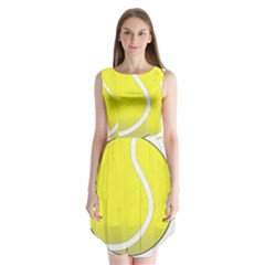 Tennis Ball Ball Sport Fitness Sleeveless Chiffon Dress